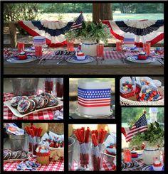 Southern Blue Celebrations: July Picnic on a Budget Fourth Of July Food, 4th Of July Celebration, 4th Of July Party, July 4th, July Crafts, Crafts To Do, Patriotic Decorations, Patriotic Crafts, And July