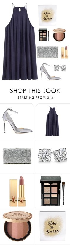 """Untitled #30"" by nandawelly on Polyvore featuring Jimmy Choo, H&M, Sole Society, Yves Saint Laurent, Bobbi Brown Cosmetics, Too Faced Cosmetics and Erica Lyons"