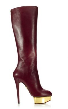 Charlotte Olympia - Bonnie Boot $1295 ...the wine color is to DIE 4