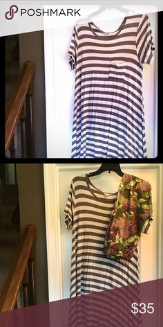 EUC LuLaRoe Carly Dress Made in Vietnam. Coordinating leggings in OS available. LuLaRoe Dresses High Low