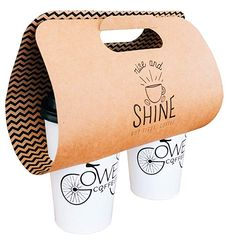 Paper Coffee to Go Carrier Coffee Cup Crafts, To Go Coffee Cups, Small Coffee Shop, Coffee Cup Art, Coffee Tray, Coffee Cup Design, Coffee Logo, Coffee Cafe, Mobile Coffee Shop