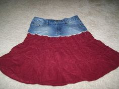 Altered Denim skirt - This would be super easy.