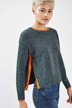 Bright Trim Marle Jumper - Knitwear - Clothing - Topshop