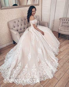 Fluffy Wedding Dress, Wedding Dress Train, Luxury Wedding Dress, Wedding Dress Sizes, Sexy Wedding Dresses, Formal Dresses With Sleeves, Formal Dresses For Weddings, Dress Formal, Lace Ball Gowns