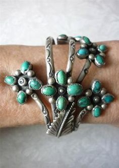 Navajo turquoise and sterling bracelet-- love love love!!