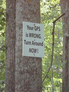 @Ginger Love - did you guys see this sign  when you got lost?? haha