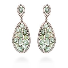 Gayarh earrings Andalucite Zircon #LuxenterJoyas #LuxenterSilver