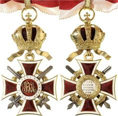 Leopold Order, Commanders' Cross, with WD of lesser grade and silver swords, Firma Rothe & Neffe, Vienna.