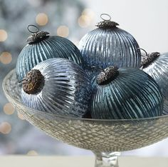 "Silver 3"" 4"" Ball Mercury Glass Ornament - lunabazaar.com - Our each price, $ 0.45 , $ 0.65- sharmaoverseas6@y..."