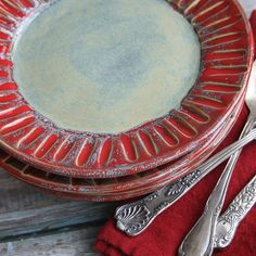 Handmade Set of Four Stoneware Dishes Rustic by AndoverPottery