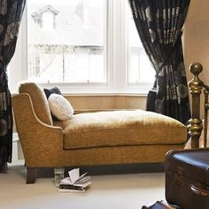 Glamorous bedroom chaise