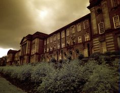 James Graham Building using IR720 filter. Image taken by Steve Kendall who works in Headingley Library.