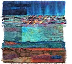 Mixed media textile art | Stormhenge by Margaret M Roberts