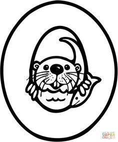Otter! This website has all kinds of awesome coloring
