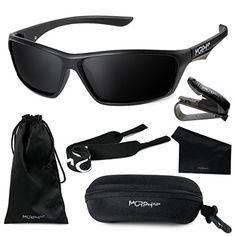 79680c2d46a Morph Aim Polarized Sports Sunglasses for Men and Women Complete  Accessories Set Sports Sunglasses