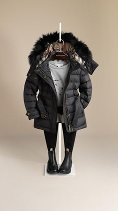 Doudoune bordée de fourrure | Burberry