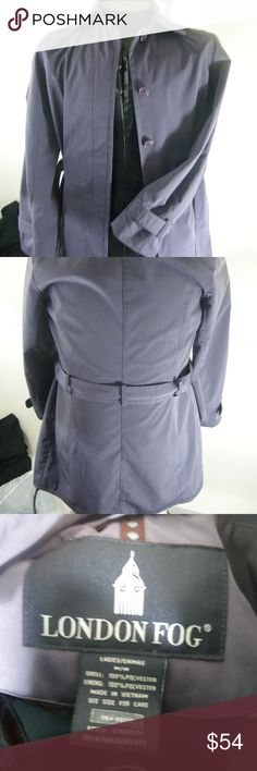 London Fog Womens Coat 076956sm Purple SZ M London Fog Womens Coat 076956sm Purple SZ M London Fog Jackets & Coats Trench Coats