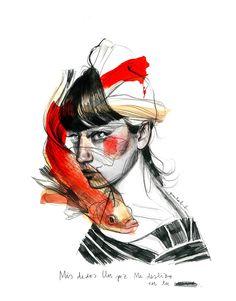 Paula Bonet agenda visual 3 Love Illustration, Digital Illustration, Wassily Kandinsky, Paula Bonet, Drawing Feelings, Tumblr Art, Woman Sketch, Watercolor Drawing, Illustrations And Posters