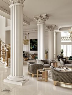 Classic Interior at VWArtclub Luxury Hotel Design, Luxury Homes Interior, Luxury Home Decor, Cheap Home Decor, Luxury Bed, Interior Design Living Room, Living Room Designs, Luxury Furniture, Furniture Design
