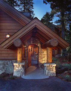 Luxury Mountain Log Home Plans | Log Beams Add Rustic Charm to Mountain Homes