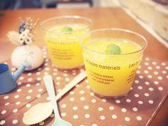 柳橙果凍 - 吃得到新鮮果肉的多汁果凍!