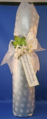 Wine bottle wrapping Bowdabra bow making tissuepaper