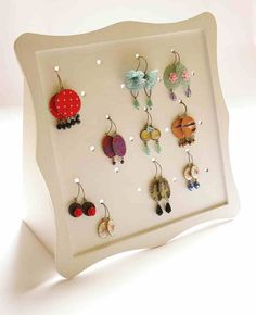 Jewelry Holder Jewelry Organizer for Earrings by vadjutka on Etsy