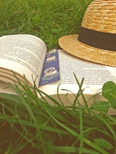 It's always a great idea to read books in a field without a care in the world with just your trusty, old hat.