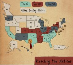 Top missionary-sending states. Texas is #1, followed by North Carolina and Oklahoma