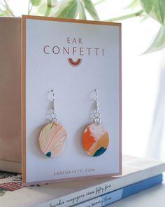 Circles - No3 — Ear Confetti Confetti, Circles, Place Card Holders, Rainbow, Colours, Shapes, Drop Earrings, How To Make, Rain Bow