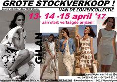 Grote zomer stockverkoop merkkledij aan scherpe prijzen -- Wondelgem -- 13/04-15/04