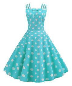 6fe1ede9a3 Simple Flavor Green Polka Dot Strappy Fit & Flare Dress - Women | Zulily