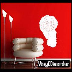 labradoodle Dog Wall Decal - Vinyl Decal - Car Decal - 05
