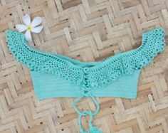 Crochet Croptop Swimwear 2-Push-up Bikini Skirt-Bottom by LFORYOU