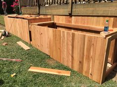 They nail cedar boards into their deck. What it becomes? This back porch build-out idea is brilliant!