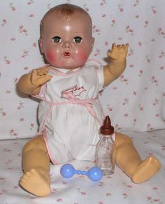 """Early American Character 16"""" TINY TEARS Doll"""