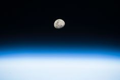 "Moon Rise From the Space Station From his vantage point aboard the International Space Station NASA astronaut Randy Bresnik pointed his camera toward the rising Moon and captured this beautiful image on August 3 2017. Bresnik wrote ""Gorgeous moon rise! Such great detail when seen from space. Next full moon marks #Eclipse2017. Well be watching from @Space_Station."""