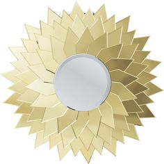 Mirror Sunflower Round Ø120cm - KARE Design Sun mirror -This mirror is the sign of a golden age. The multi-layered, gold-coloured mirror elements are arranged like the sun s rays around the reflecting surface. This mirror is a star on every wall, bathing us like the sun in its warm glow and making its surroundings seem several degrees warmer with its glittering shade of gold.#kare #karedesign #mirror #sunflower #gold #glamour #large #design #style #glow #spiegel #sun #sonne
