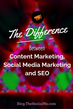 The Difference between content marketing, social media marketing, and SEO