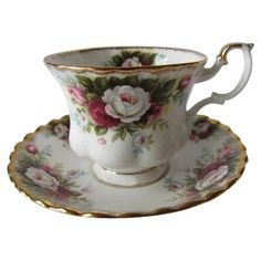 Royal Albert Celebration Pattern Tea Cup and Saucer