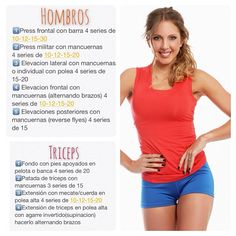 Hombros triceps. Sascha Barboza @saschafitness Aqui tienen la ru...Instagram photo   Websta (Webstagram) Elevación Frontal, Weight Loss Tips, Lose Weight, Pregnancy Workout, Fitness Nutrition, Stay Fit, Gym Workouts, Fitness Motivation, Exercise Workouts