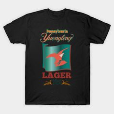Pennsylvania Yuengling Lager - Yuengling Lager Beer - T-Shirt Lager Beer, Concert Tees, Tee Design, Brewery, Pennsylvania, Mens Tops, T Shirt, Supreme T Shirt, Tee