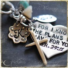 Bible verse jer. 29:11 Keychain/purse charm - Gift for Expecting Mother, Adoption, Graduation by rubiesandwhimsy