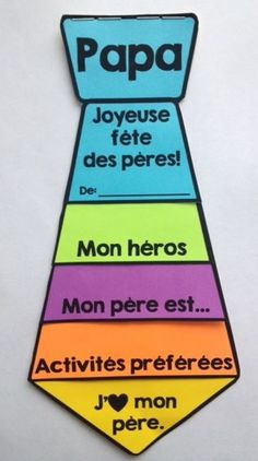 Visit the post for more. Fathers Day Art, Fathers Day Crafts, Happy Fathers Day, French Teaching Resources, Teaching French, French Teacher, Cadeau Parents, Father's Day Activities, Core French