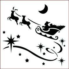 Gallery For > Christmas Sleigh Stencils Cricut Christmas Ideas, Christmas Stencils, Christmas Labels, Christmas Templates, Noel Christmas, Christmas Crafts, Christmas Ornaments, Tree Stencil, Stencil Painting