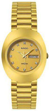 Rado Diastar All Gold Tone Stainless Steel Mens Watch R12393633