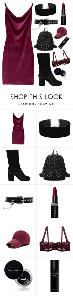 """Goth Girl"" by mode-222 ❤ liked on Polyvore featuring Miss Selfridge, Maison Margiela, D&G, Smashbox, Fleur of England, Kevyn Aucoin and Bobbi Brown Cosmetics"