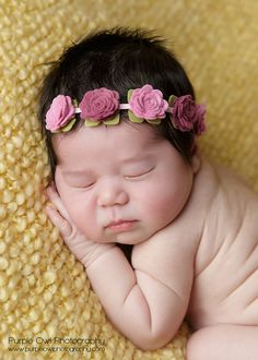 Felt Flower Garland Headband With Flowers in Pink Violet by bloomz, $10.50 Adorable!