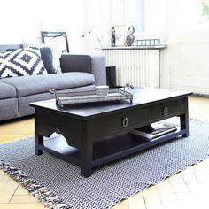 Thaki Black Mahogany Coffee Table 100x60