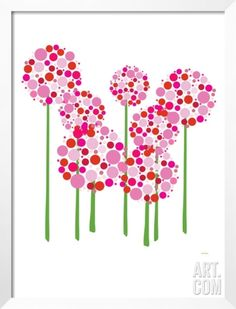 Pink Allium Framed Art Print by Avalisa at Art.com